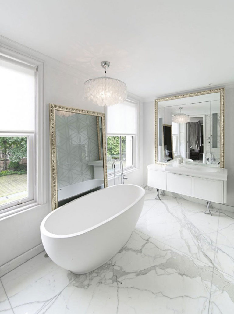 Luxurious And Stylish Marble Bathroom