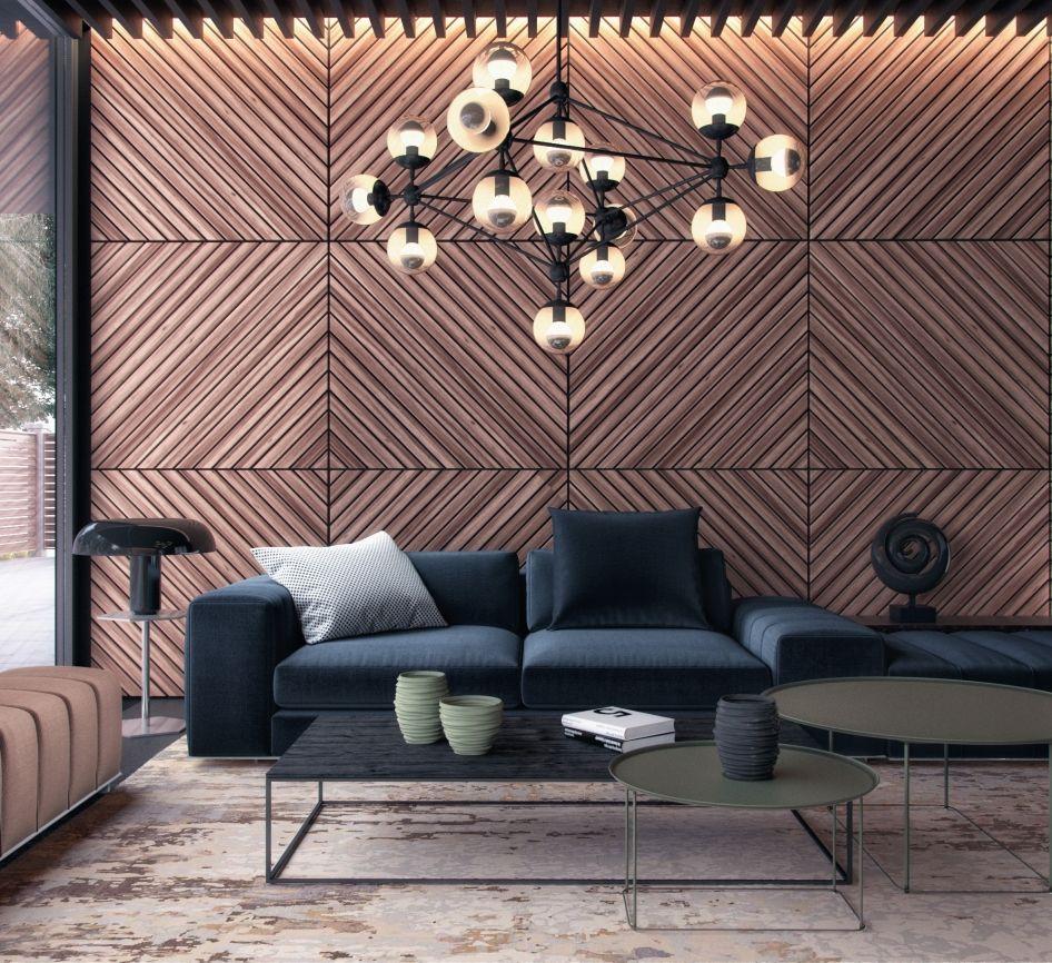 Panneaux muraux en bois: variété, critères de sélection et idées de décoration