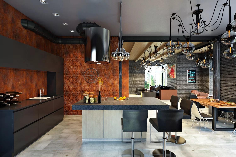 Industrial kitchen: design ideas