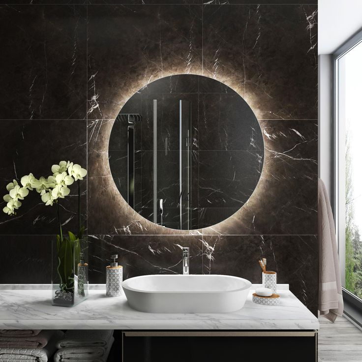 Iluminated round bathroom mirror design and expert tips