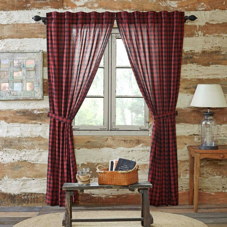 Farmhouse style curtains: how to choose and design ideas