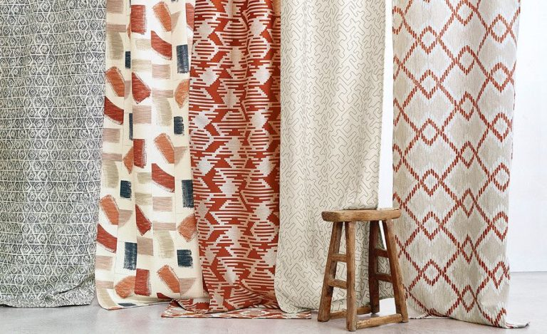 Geometric pattern curtains: a stylish solution for a modern interior