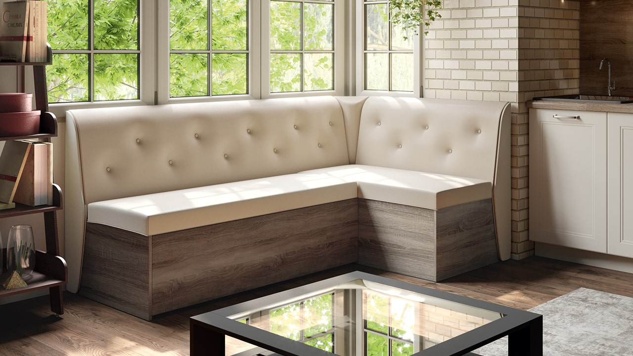 Kitchen with a sofa: design ideas and how to choose