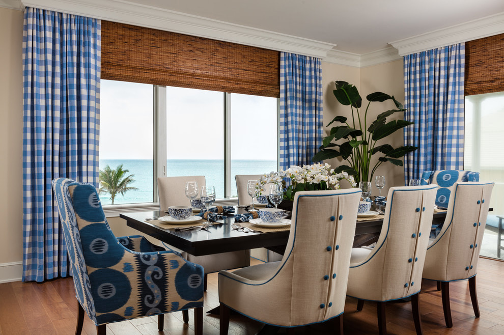 Plaid / Check curtains: rules, colors and design ideas