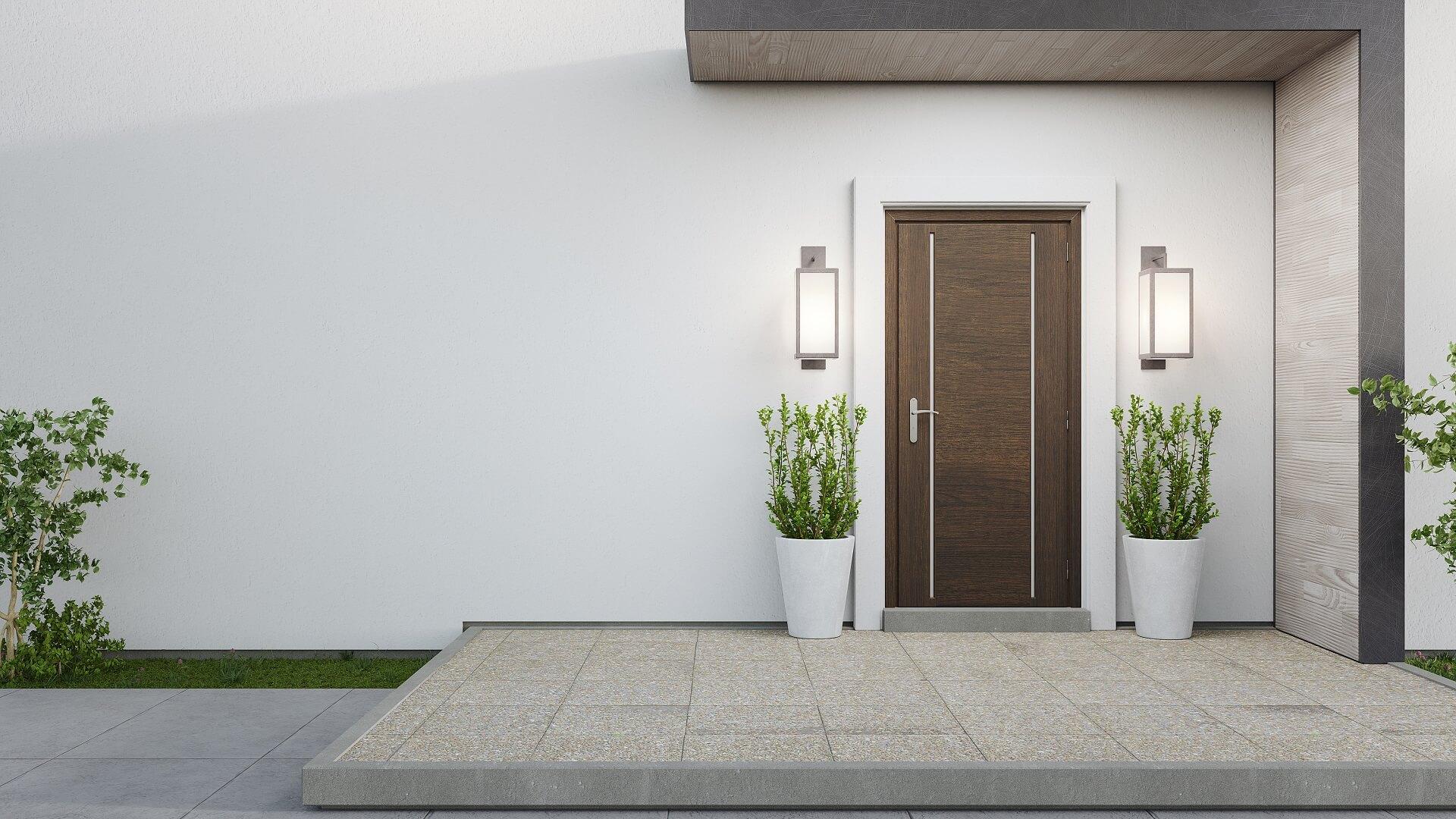 Porte d'ingresso moderne 2021: tendenze e colori