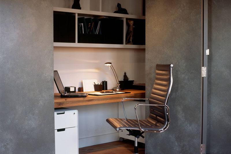 Домашний офис в шкафу: идеи дизайна и фотографии