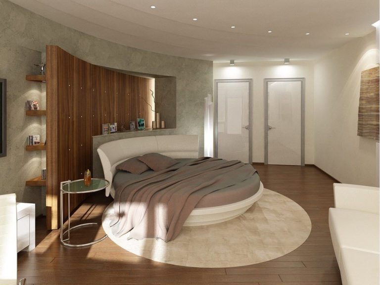 Curved bedroom wall design ideas