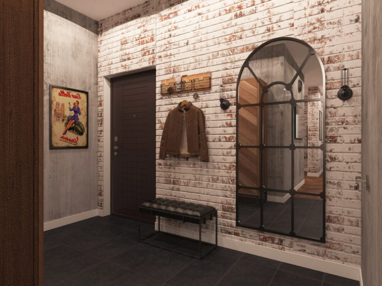 Industrial-style hallway design ideas, features, materials, colors