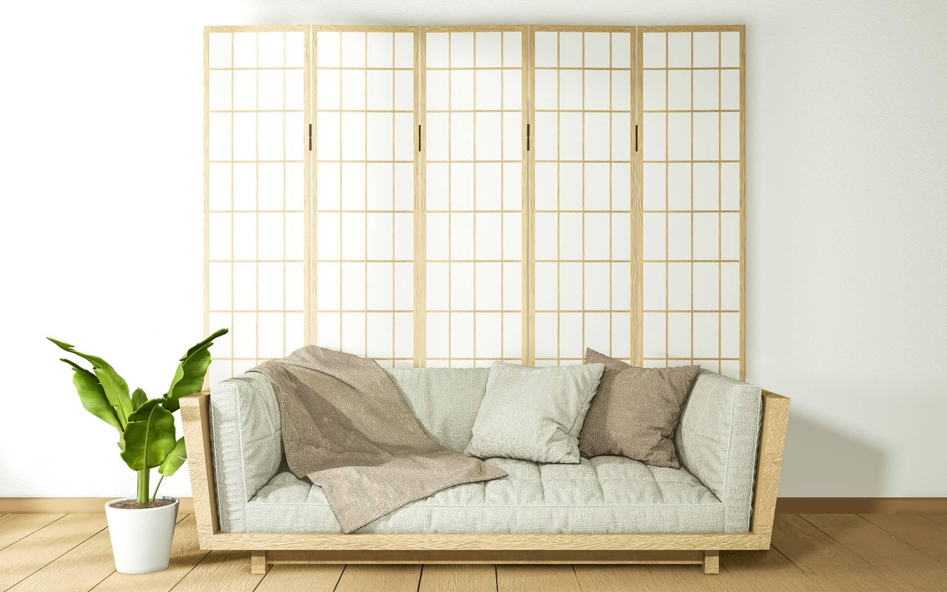 Japanese-style living room: interior design ideas