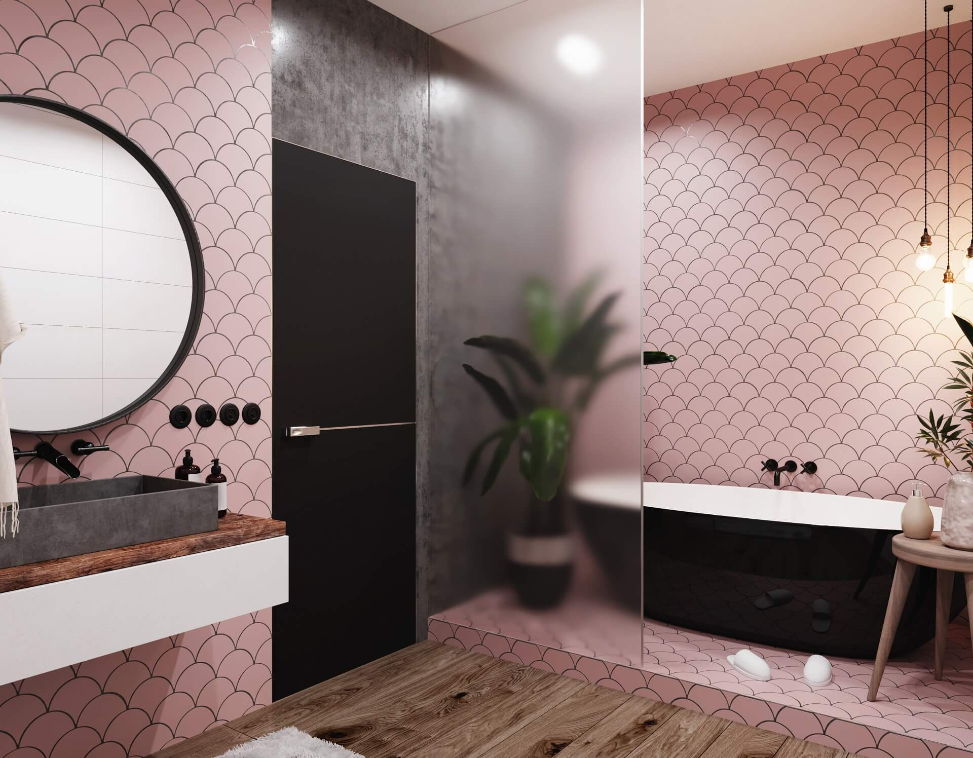 Pastel tiles: features of use in the interior