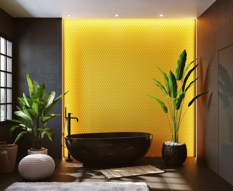 Bathroom accent wall ideas: materials, colors, and wall selection