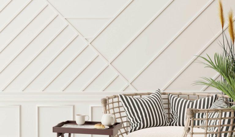 Акцентная стена из доски и реек: стили, цвета, DIY и идеи дизайна