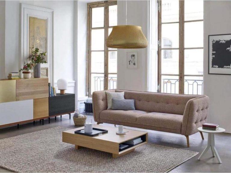 Idées pour aménager le salon avec un canapé Habitat