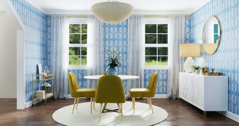 Dining room wallpaper trends 2021-2022: modern ideas to keep it up-to-date